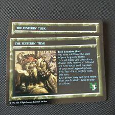 THE FESTERIN' TUSK | Shadowrun TCG | NM Rare | 1997 OOP CCG