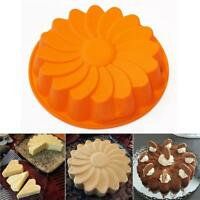 "9"" Sun Flower Round Silicone Cake Bakeware Baking Cup Cupcake DIY Mold Mould S"