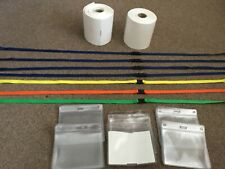 7 Lanyard 24 plastic pouches and 2 rolls of labels