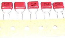5 Condensateurs NATIONAL MATSUSHITA Mylar NEUFS 220nF - 100V - 0.22uF - 220000pF