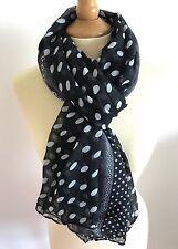 Écharpes et châles foulard noir avec des motifs À Pois pour femme   eBay 9754955f08e