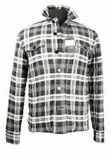 C'N'C (Costume National) thinsulated shirt/blouson off white/grey check