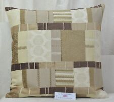 "CUSHION COVER 20""x20"" Fryetts Prague Natural Patchwork Chenille"