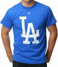 Los Angeles Dodgers Majestic MLB Logo T-Shirt Adult New CLEARANCE