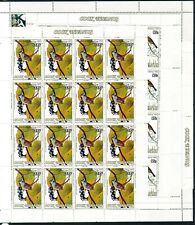 More details for cook islands 1985 audubon birth bicentenary sg1015/1020 sheets of 16 mnh