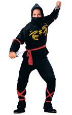 Mens Ninja Warrior Samurai Japan Film Fancy Dress Costume