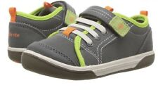 NIB Stride Rite BB57621 DAKOTA GREY Boys Size 5M Green Orange Shoes