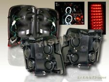2002 CADILLAC ESCALADE TWIN CCFL HALO PROJECTOR HEADLIGHTS & RED LED TAIL LIGHTS