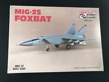 Vintage MIG-25 FOXBAT Minicraft / Hasegawa Model Kit #1130