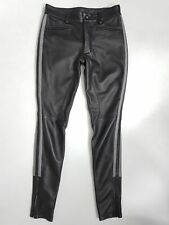 GENUINE LEATHER BREECHES POLICE PANT MENS BLACK GAY JEANS LEATHER PANT XXS-4XL