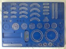 Vintage 1969 Kenner Spirograph No 2400 Blue Tray Partial Set Replacement Pieces