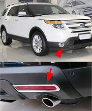 Front+Rear Fog Light Lamp Cover Trim For 2011-2014 Ford Explorer SUV Chrome set