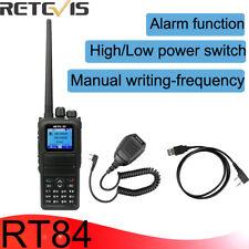 Walkie Talkie Retevis RT84 UHF/VHF 5W Dual Band DMR Digital/Analog SMS+MIC+Cable