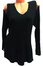 New listing Style&co. black cold shoulder long sleeves v neck plus size sweater top 3X