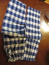 NWT Seven 7 Apparel Blue Plaid  Flannel Lounge Pants Sleep Pants Large L