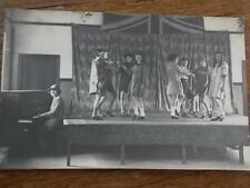 Ring a Ring O Roses or Dancing Children on stage Lady Pianist Piano Real Photo