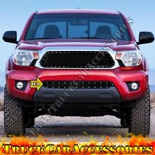 For TOYOTA Tacoma 2012-2015 Black Mesh Rivet OVERLAY Lower Bumper Grille 1PC usa