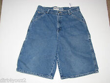 Faded Glory Boys Size 18 Denim Shorts Inseam 16 Length 23 No Holes 100% Cotton