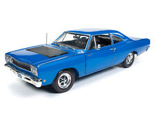 2018 NEW 1:18 AUTO WORLD AMERICAN MUSCLE *BLUE* 1968 Plymouth Road Runner NIB