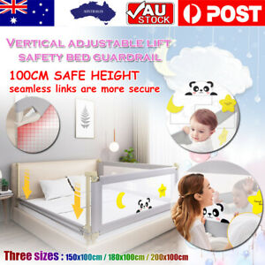 100CM Height Bed Rail/BedRail Adjustable Folding Kids Safety Cot Guard Protecte