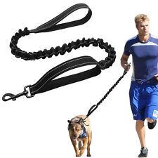 Strong Dog Lead Reflective Pet Elastic Training Bungee Leash Dual Padded Handle