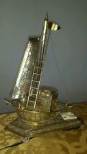 Whimsical model silverplate sailboat/lamp/jewerly box 1930s