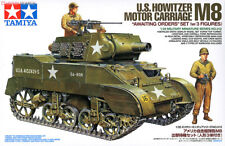 "1/35 Tamiya US Howitzer Motor Carriage M8 - ""Awaiting Orders"" w/3 Figures #35312"