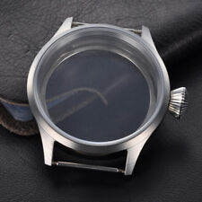 43mm Sapphire Glass Wrist Watch Case Fit 6497/6498,Fit Two Size Tihckness Dial