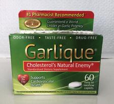 Garlique Cholesterol's Natural Enemy Cardiovascular Health 60 Caps  Damg Box