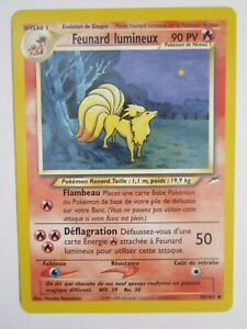 LIGHT NINETALES POKEMON CARD 50/105 NEO DESTINY NON HOLO NEVER PLAYED NM FRENCH