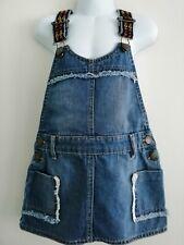 Girls Juniors Denim Pinafore Dress Age 5-6 Years