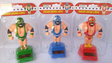 Happy Dancing Solar Powered Wrestler's solar lucha libre New!!