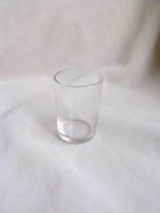 ROUND CLEAR GLASS REPLACEMENT TODDY GLASS FOR SOLID SILVER HOLDER