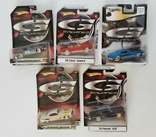 Hot Wheels G Machines Lot of 5 New in Packaging 1/50 Scale Diecast Lot #1