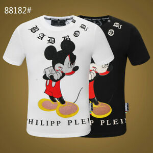 PHILIPP PLEIN Black Doll Beading Men Casual T-shirt #P88182 M-3XL