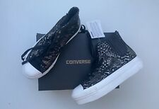 BNIB Converse CT Platform Metallic Leather Hi Top Black 6 39 Guaranteed Original