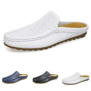 38-44 Mens Slingbacks Slippers Loafers Shoes Flats Soft Comfy Hollow out Flats L