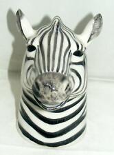 More details for quail ceramics large zebra jug 839