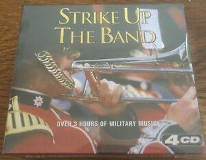 "Various ""Strike Up The Band: Military"" NEW & SEALED 4CD Set Inc. Royal Marines"