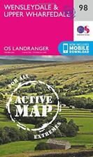 OS Landranger Active Map  98  Wensleydale & Upper Wharfedale by Ordnance Survey