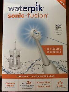 Waterpik Sonic Fusion Flossing Toothbrush NIB SF-01W020-1