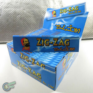 1 box (50 packs) Rolling  ZIG ZAG Slim Size Cigarette Paper Papers RYO