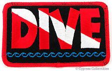 DIVE EMBROIDERED PATCH SCUBA DIVING SOUVENIR FLAG LOGO IRON-ON EMBLEM SOUVENIR