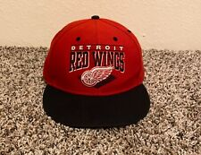 Detroid Red Wings Hat Cat Snapback Red Black Embroidered Spell Out Logo '47