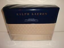 Ralph Lauren Bedford Jacquard King Duvet Cover Nip Champagne Cotton Sateen