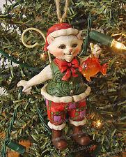 Jim Shore Goldfish Christmas Cat Ornament (Enesco, 4027756) Heartwood Creek