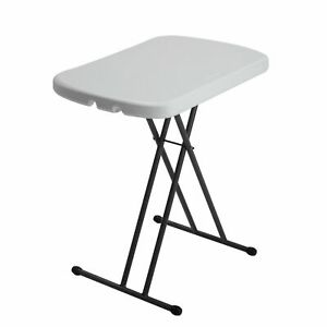 Lifetime 80251G Adjustable Folding Table 26 in. - White