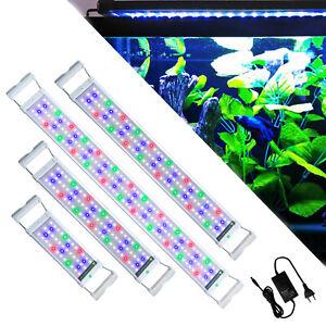 RGB LED Aquarium Beleuchtung Abdeckung Lampe Vollspektrum Aufsetzleuchte Licht#