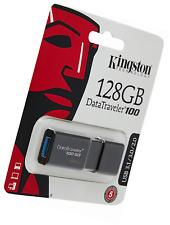 Kingston DataTraveler 100 G3- DT100G3/218GB USB 3.0, 3.1 Clé , 128 GB, Noir