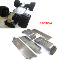 For 1/10 Traxxas MAXX RC Car Stainless Steel Chassis Armor Skid Plate Guard 5PCS